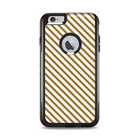 The Brown & White Striped Pattern Apple iPhone 6 Plus Otterbox Commuter Case Skin Set