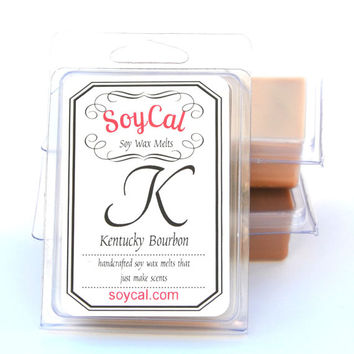 Kentucky Bourbon - SoyCal Wax Melts - soy wax tart - soy wax melt - wax melt warmer - organic candles  - man cave