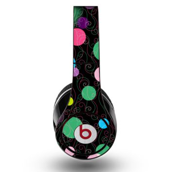 The Neon Colorful Stringy Orbs Skin for the Original Beats by Dre Studio Headphones