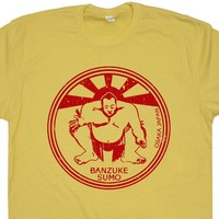 Sumo Wrestling T Shirt Vintage Wrestling Shirt Japan Fight Club Tee Shirt