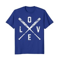 Love Baseball Bats Shirt- Baseball Mom Softball Dad Gift