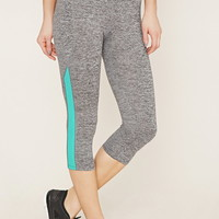 Active Heathered Capri Leggings | Forever 21 - 2000151965