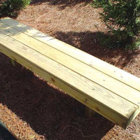 Planet Playgrounds Backless Wood Bench