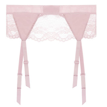 Lilly Silk & Lace Garter Belt