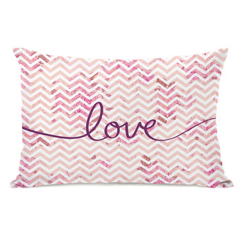 Love Mix & Match Chevron Outdoor Throw Pillow by OneBellaCasa.com