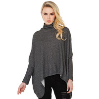 Bat Sleeve Closed Neck Top