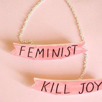 Feminist Killjoy Sweater Brooch Set W/ Chain