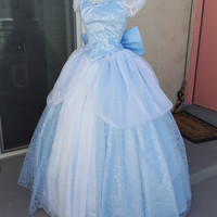 Cinderella Swirl Disney Princess Parks Style Cosplay Gown - Made to Order Sizing, Corset Back - Perfect for Party Princess Performenrs!