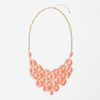 Coral Daisy Tessellate Necklace
