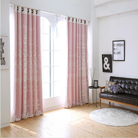 Torisa double layer embroidery curtain ivory color cloth curtain+voile sheer black out fabric bedroom customize curtain window