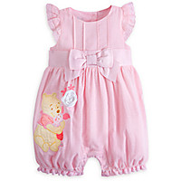 Winnie the Pooh and Piglet Woven Romper for Baby