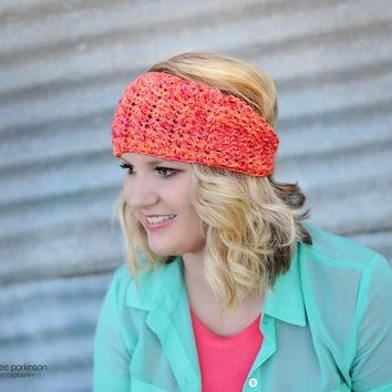 Crochet Pattern for Star Stitch Earwarmer Headband - Toddler through Large Adult sizes - Welcome to sell finished items
