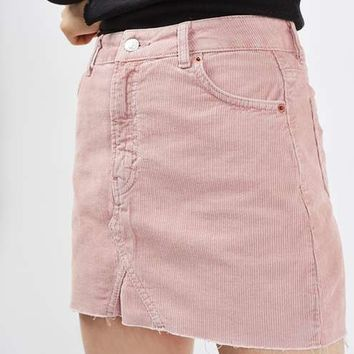 MOTO Cord Highwaisted Skirt