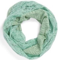 David & Young Lace Infinity Scarf (Juniors) | Nordstrom
