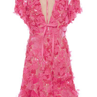 Embroidered Tulle V-Neck Dress | Moda Operandi