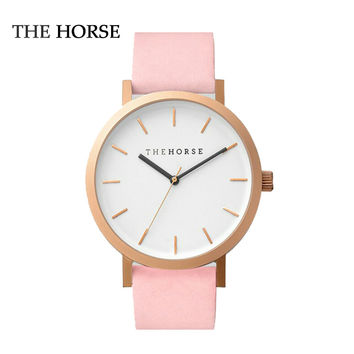 The horse watch luxury brands Quartz Watch Women Men WristWatches Fashion Pink Gold quartz-watch Female Clock Relogio Feminino