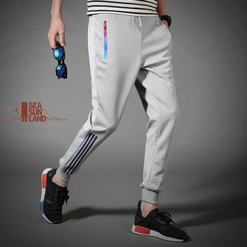 SeaSunLand Brand 2017 NEW sweatpants Men gasp workout bodybuilding clothing casual sweatpants joggers pants skinny trousers hot