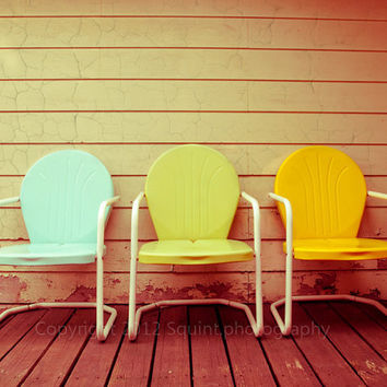 Vintage Patio Chairs  Fine Art Photograph  by Squintphotography