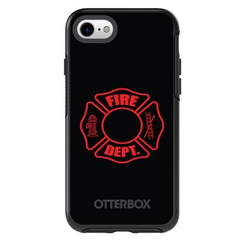 DistinctInk™ OtterBox Symmetry Series Case for Apple iPhone / Samsung Galaxy / Google Pixel - Red Fire Department