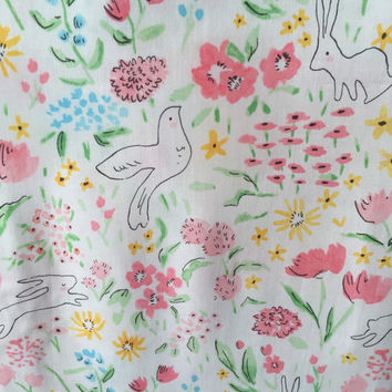 Fitted Crib Sheet, Baby Girl Crib Bedding, Sweet Floral Crib Sheet, Cotton Crib Sheet, Nursery Bedding