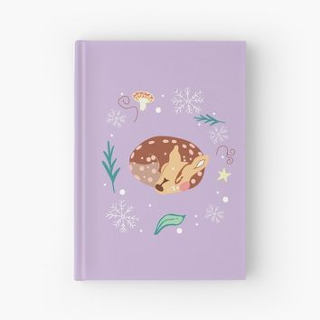 'Wee Fawn' Hardcover Journal by xanbod