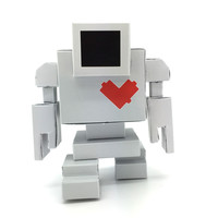 Lovebot Paper Craft Toy by Matthew Del Degan