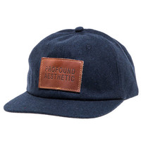 Wool Monogram Six Panel Hat in Navy