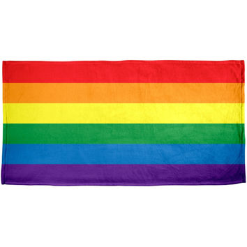 Rainbow Gay Pride Flag All Over Beach Towel