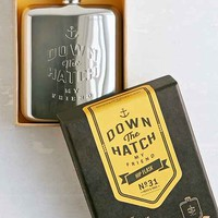 Wild & Wolf Gentlemen's Hardware Down The Hatch Hip Flask- Silver One