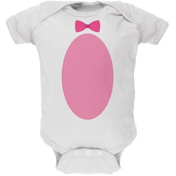 CREYCY8 Easter - Bunny Costume White Soft Baby One Piece