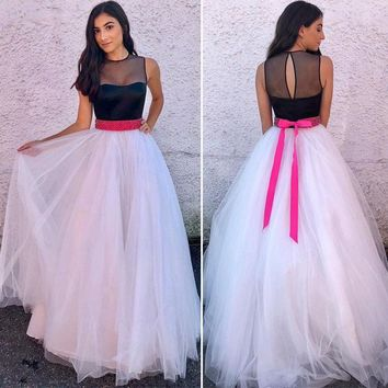 New Summer Women Ladies Casual Sleeveless Backless Long Dress Cocktail Party Dress Tulle Long Sundress