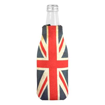 Vintage Union Jack British Flag Bottle Cooler