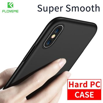 FLOVEME Hard Back Case For iPhone X Case Luxury Super Smooth PC Phone Case For iPhone X Cover Mobile Phone Cases Accessories