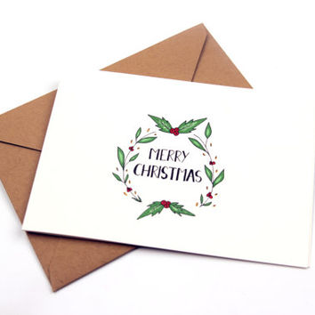 Merry Christmas - Greeting card Set of 2
