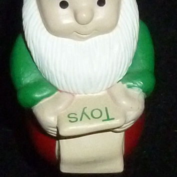 Hallmark Merry Miniature Christmas Santa Claus With Toy List Figurine