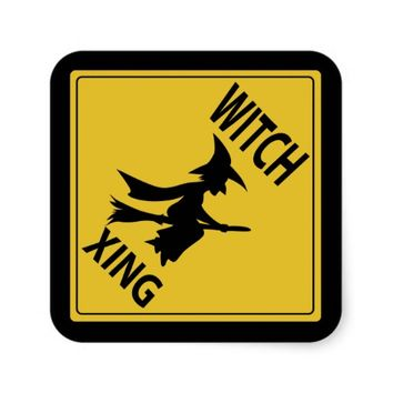 Witch Xing Square Sticker