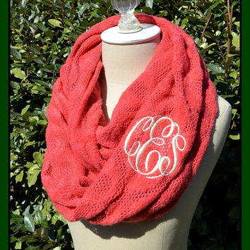 Mens Personalised Monogram Initials Knitted Scarf