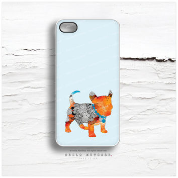 "iPhone 6 Case, iPhone 5C Case ""Puppy Frenchie"" by Iveta Abolina, iPhone 5s Case French Bulldog, Dog iPhone 4s Case, Floral iPhone Case I141"