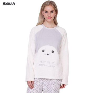 ONETOW BXMAN Brand Spring&Autumn Women Pajamas Soft & Comfortable Baby Seal Modeling Super Cute Pajamas sets Size XS~L
