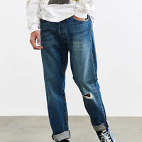 Levis 501 Custom Tapered Fuzzy Destructed Jean - Urban Outfitters