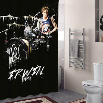 Shop 5sos shower curtains on wanelo for 5sos room decor ideas