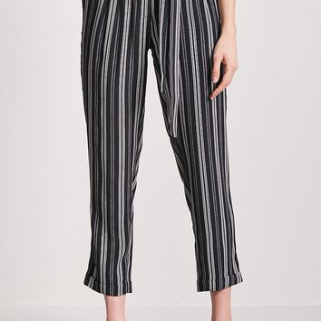 Belted Stripe Pants