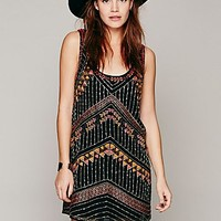 Free People Womens Tribal Arrows Embellished Shift