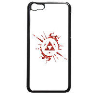 Legend of Zelda Triforce Custom Glitter For iPhone 5C Case *AR*