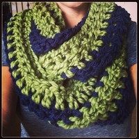 Infinity Scarf--Seahawks Colors