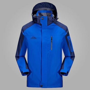 2017 Spring Jacket New 6 Colors Hood Sport Windproof Outdoor Windbreaker Jacket Men Breathable Mens Jackets And Coats Size L 5xl