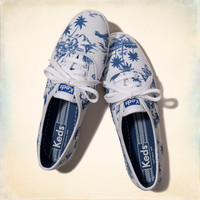 Hollister + Keds Champion Tropical Print Sneakers