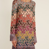 Zigzag crochet-knit mini dress | Missoni | MATCHESFASHION.COM US