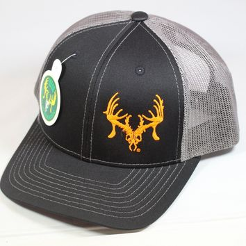 Texas Trophy Hunter Association® Black and Charcoal with Safety Orange Logo