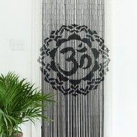 Bamboo Curtain Black and White Ohm